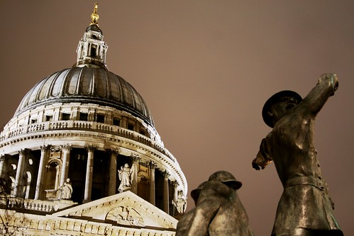 St Paul's & Firefighters at Night