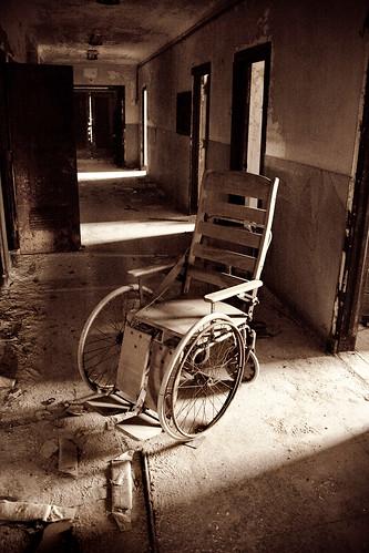 Abandoned Sea View Hospital Wheelchair
