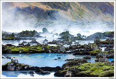 The Lagoon II (Jokull) Tags: blue mountain cold green water canon wow island lava photo iceland moss fantastic healthy rocks warm steam photograph bathing geothermal sland bluelagoon icelandic jkull jokull canoneos40d onephotoweeklycontest traveltoiceland plljkull cometoiceland