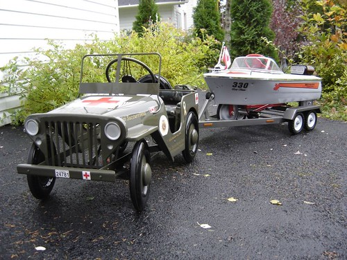 custom pedal car and boat