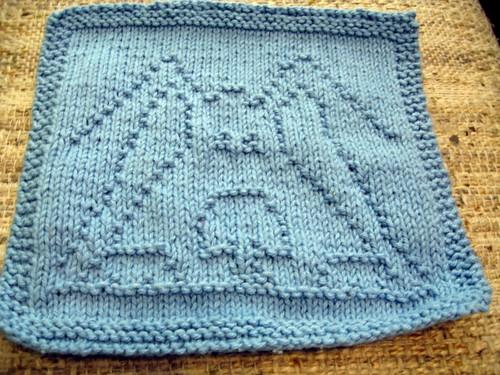Peek-A-Blue wash cloth finished