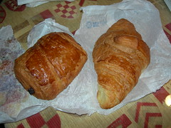Croissant at bakery in Toulouse, FR