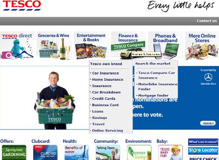Tesco homepage