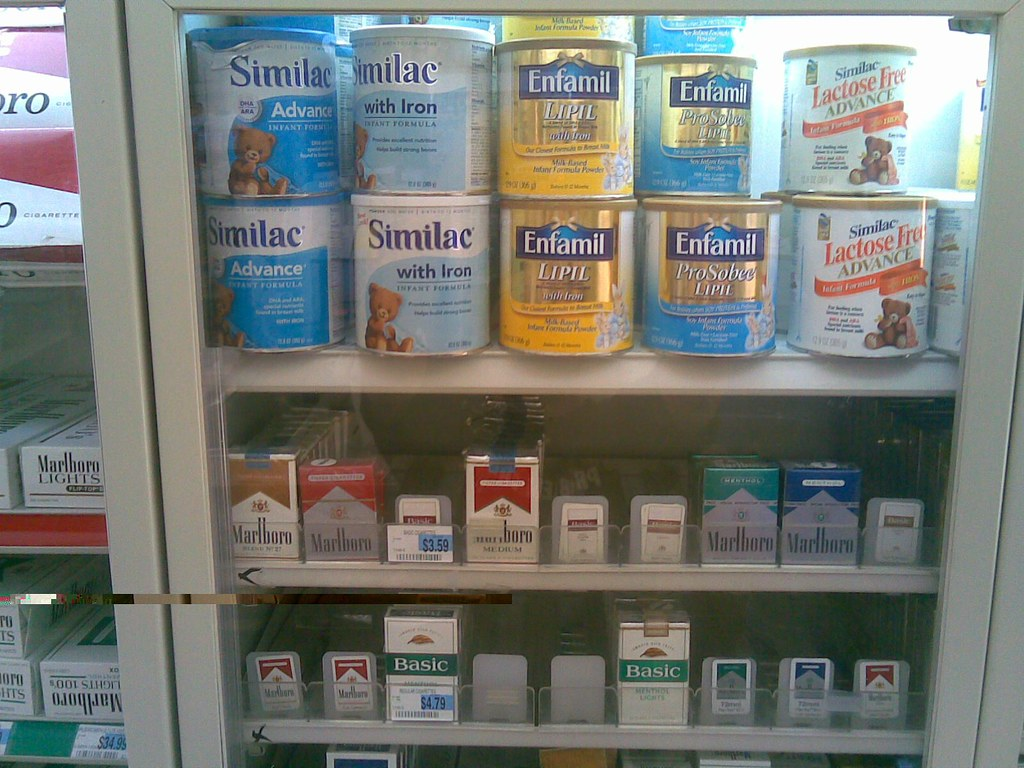Cigarettes and baby formula