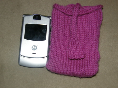 Celly and cell phone before felting