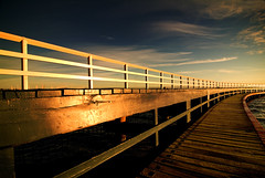 boardwalk (hoogen imagery) Tags: blue reflection lines clouds sunrise gold golden australia boardwalk planks geelong easternbeach coriobay hoogenimagery auselite bestofaustralia flickrslegend