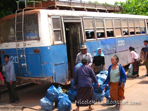 public bus in vientiane
