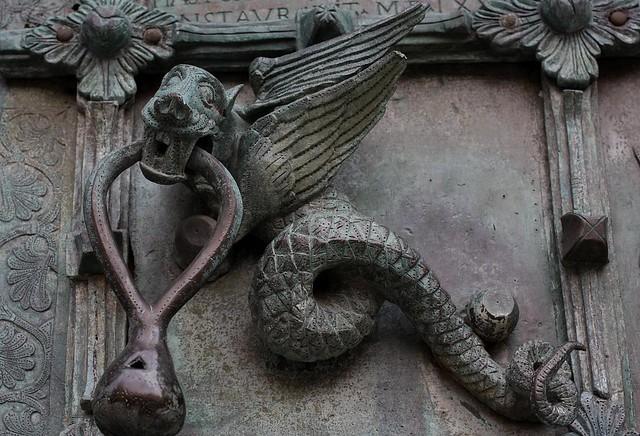 wyvern on bronze west door