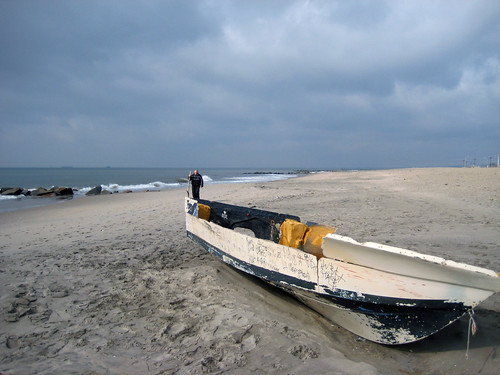 Washed up Boat on Coney Island