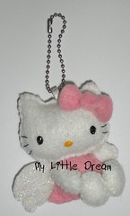 Chaveiro Hello Kitty Anjo Sentada (La Little Dream) Tags: cute keyring handmade hellokitty artesanato felt kawaii feltro chaveiro