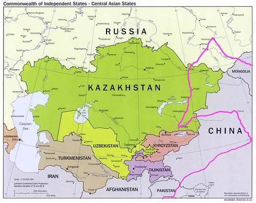 Kazakhstan Russia Map.Decadence Cycling The World Map Of China Mongolia Russia