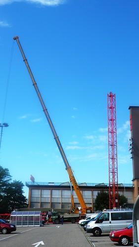 Crane in Langendorf