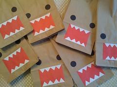 domo kun goodie bags (iheartkitty) Tags: cute japanese character domo kawaii bags kun goodie