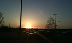 Sunset at Costco parking lot, Omaha, NE