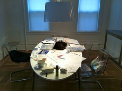 Stuff (oliverchesler) Tags: sleeping ikea apple coffee cat zoe table mess working diningroom stuff magicmouse macbookpro