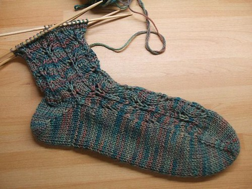 Hand dyed sock