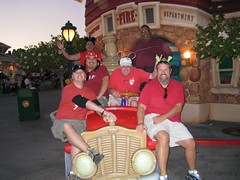 The gang ride the Toontown fire truck. (10/06/07)