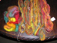roving and plied handspun
