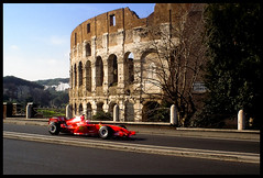 FAST AND FURIOUS (Justino ) Tags: italy roma speed italia technology ferrari colosseum rosso foriimperiali colisseum velocit hispeed colosseo f2006