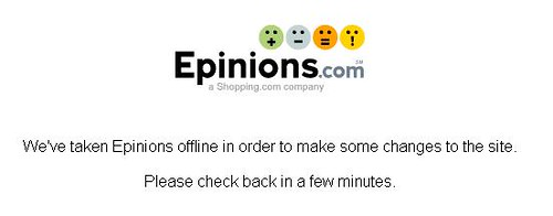 epinions down
