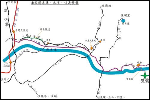 map-南投縣集集、水里、信義雙龍