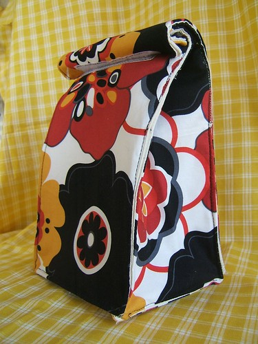 groovy fabric lunch bag