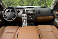 2008 Toyota Sequoia Red Rock Interior and Dash