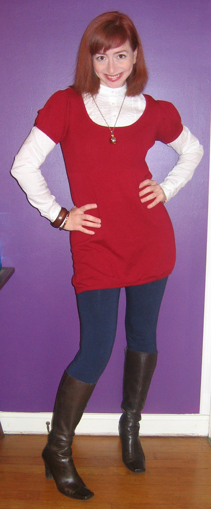 Red Sweater Dress With Boots Red Sweater Dress Forever 21