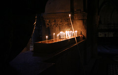 Promise of light to come (ygurvitz) Tags: israel candles jerusalem catholicchurch churchoftheholysepulchre copticchurch armenianchurch greekorthodoxchurch godslight ethiopianchurch canon17404l syriacchristianchurch
