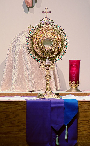 Saint Peter Roman Catholic Church, in Saint Charles, Missouri, USA - monstrance.jpg