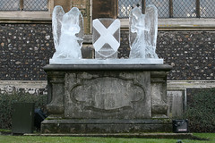 angels and St Andrews Cross (Leo Reynolds) Tags: sculpture ice angel canon eos iso400 utata shield icesculpture 30d 38mm f67 0ev 0008sec hpexif leol30random grouputata groupnorwich xratio32x xnorwichchurchx xleol30x