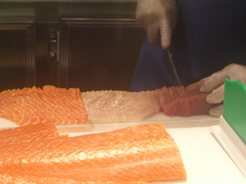 Slicing the sashimi