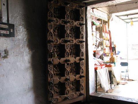 carved front door b r temple