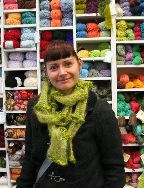 Tatyana's Scribble Lace Scarf