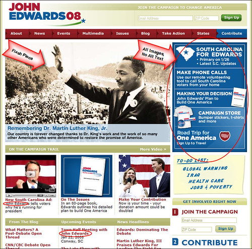 John Edwards Presidential Campaign Homepage
