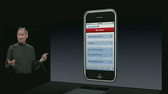 Steve Jobs Showcasing the iPhone Bank of America ATM Branch Locator
