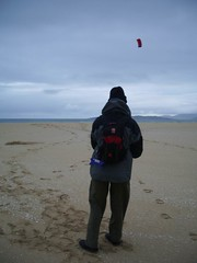 Kite-flying on Scarista Beach