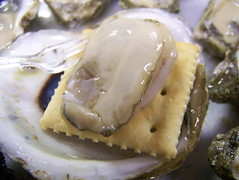 Oyster on Saltine