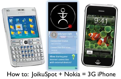 How to: JoikuSpot + Nokia = 3G iPhone