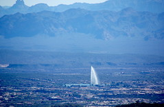 McDowell Sonoran Preserve - Fountain Hills Fountain (Al_HikesAZ) Tags: arizona fountain phoenix landscape desert hiking hike explore trail scottsdale sonoran mcdowellmountains fountainhills azwexplore mcdowellsonoranpreserve azhike alhikesaz bellpass
