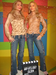 These are the newest additions to the museum: Mary-Kate and Ashley Olsen (aka The Olsen Twins) who were added just this year. (10/29/05)