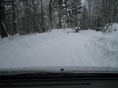 Snowy roads 01 (drayy) Tags: road street snow ski japan skiing nagano   nozawaonsen