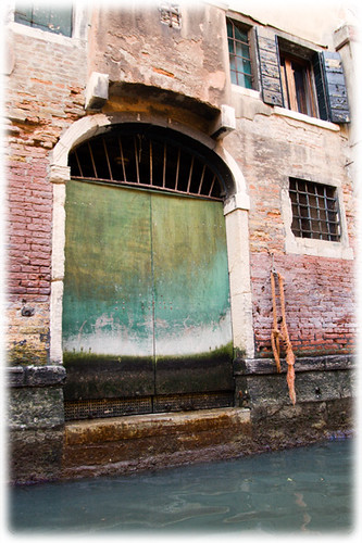 Door at a canal in Venice
