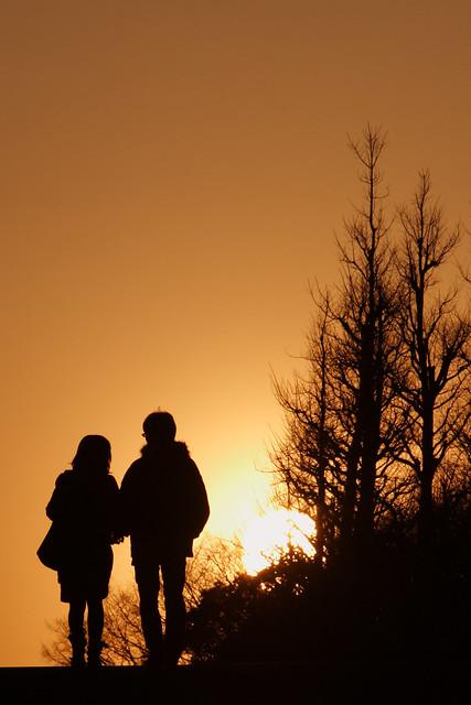 寒日の夕刻