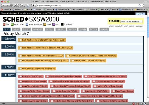 Sched.org — Pretty Nice SXSW Calendar