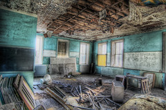 Inside School1 (dpinkston (Derek)) Tags: old school canon rebel kansas hdr elmdale xti