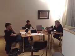 Fabian, Brigitta und Beate - Vorbereitung der Öffentlichen Buchausgabe des logbuch accessiblity