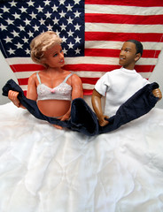 They Both Want To Be On Top (Professional Recreationalist) Tags: us bed doll dolls pants top clinton flag president hillary brucedean professionalrecreationalist hillaryclinton obama leadership oldglory starsstripes barackobama barack dreamteam barackobamaactionfigure hillaryclintonactionfigure