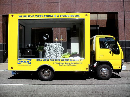 Ikea rolling showroom