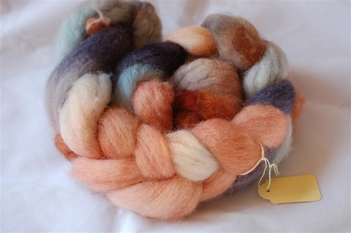 Hand dyed BFL roving
